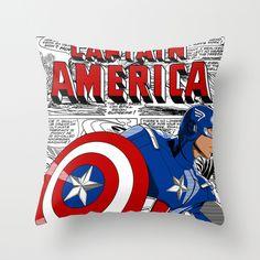 Captain America (Avengers) Throw Pillow