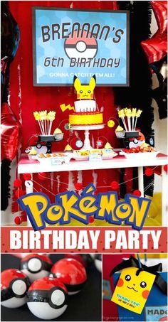 Pokemon Birthday Party Ideas via Kara's Party Ideas | KarasPartyIdeas.com (1)