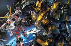 Mobile suit Gundam Unicorn by GoddessMechanic on DeviantArt Gundam Exia, Gundam Art, Earth Gravity, Gundam Wallpapers, Unicorn Gundam, Gundam Seed, Gundam Wing, Mecha Anime, Gundam Model