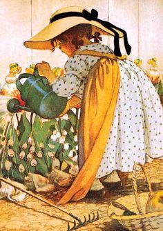 Childhood Flowers Friendship Gardening Girls Illustrator: Jessie Willcox Smith'