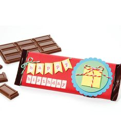 "Perfect gift idea for a chocolate lover! Wrap up a candy bar with a fun ""Happy Birthday"" wrapper!"