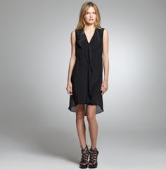 Wing-Collar Dress. Kenneth Cole New York.