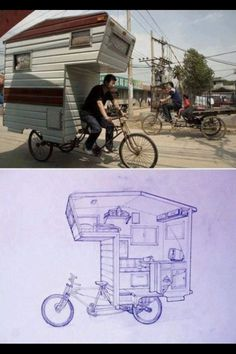 Bike trailer - this is crazy!!
