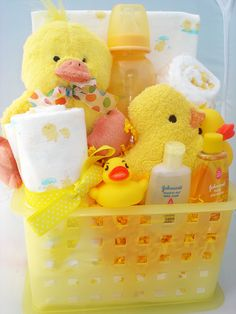 Rubber Ducky Baby Gift Basket  www.facebook.com/SparkleliciousGifts