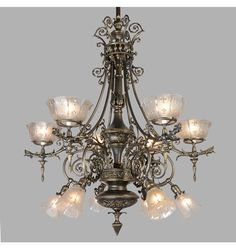 Astounding Gas/Electric Empire Chandelier, c1890 - Item# R0969 http://www.rejuvenation.com/catalog/products/r0969