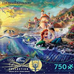 Amazon.com: Ceaco Thomas Kinkade The Disney Dreams Collection The Little Mermaid 750 pc. Jigsaw Puzzle: Toys & Games Disney Kunst, Arte Disney, Disney Art, Thomas Kinkade Puzzles, Mermaid Disney, Ariel The Little Mermaid, Maria Jose, Disney Jigsaw Puzzles, Walt Disney Movies