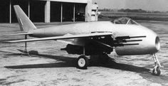 The Messerschmitt P.1101 was a single-seat, single-jet fighter project developed in response to the July 1944 Emergency Fighter Program, which sought the second generation of jet fighters for the Third Reich. A characteristic feature of the P.1101 prototype was that the sweep of the wings could be changed before flight, a feature further developed in later variable-sweep aircraft such as the Bell X-5 and Grumman XF10F Jaguar.
