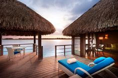 The St. Regis Bora Bora Resort  Sunrise from your Overwater Superior Villa #stregis #borabora