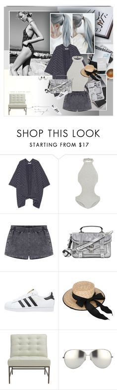 """Grey Summer"" by rainie-minnie ❤ liked on Polyvore featuring Elizabeth and James, Zimmermann, Proenza Schouler, adidas Originals, Mitchell Gold + Bob Williams and Linda Farrow"