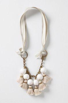 anthro tassel necklace