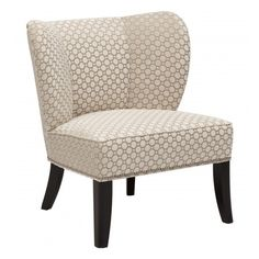 Annie Chair, Vapor Pearl ($679) ❤ liked on Polyvore featuring home, furniture, chairs, mid century style furniture, midcentury furniture, mid century chair, midcentury modern chair and spring chair