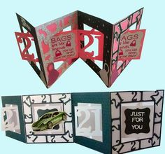 21st Accordian Card studio file male and female on Craftsuprint - Add To Basket!