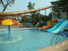 Water Slides at United-21 Retreat Lonavala
