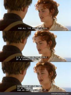 Rose Titanic Quote Visit www.OnlineMovieQuotes.com to see more movie scenes & quotes! Favorite Movie Quotes, Classic Movie Quotes, Movie Lines, Romantic Movies, Titanic Movie Quotes, Film Quotes, Titanic Movie Scenes, Movie Tv, Love Movie
