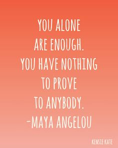 you alone are enough.