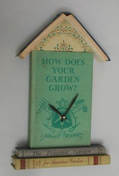 Recycle Reuse Renew Mother Earth Projects: How to make a Book Clock