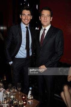 Model David Gandy and actor Clive Owen attend the Vertu Global Launch Of The 'Constellation' at Palazzo Serbelloni on October 18, 2011 in Milan, Italy.