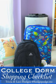 A list and some tips for the college dorm checklist so your college student will be prepared for the transition. Includes a fun video of shopping haul! Dorm Shopping, Shopping Hacks, College Dorm Checklist, Homeschool High School, Homeschooling, Back To School Deals, Fun Learning, College Students, Dorm Room