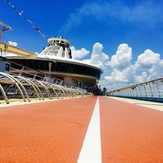 Hit the ground running onboard Freedom of the Seas. The running track runs the perimeter of the ship, providing ocean views throughout your workout.
