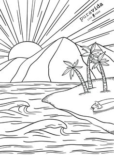 Looking for a creative outlet? Check out our brand new Pura Vida coloring sheets! 🎨 Coloring is known to reduce stress and anxiety levels, all while having some fun! Put some music on and get coloring, PV fans! For all our boss babes out there 👊🏼👑 Truck Coloring Pages, Cute Coloring Pages, Adult Coloring Pages, Coloring Sheets, Coloring Books, Art Drawings For Kids, Easy Drawings, Creative Art, Creative Outlet