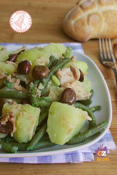 Insalata Patate Fagiolini e Tonno ricetta veloce estiva