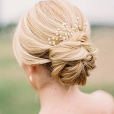 Classic Wedding Day Hair / Wedding Hair / Wedding Inspo / Low Bun