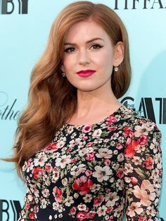 Isla Fisher. I want her red hair. today.