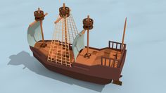 "Check out my project: ""pirates ship""… Robot Design, 3d Design, Game Design, Low Poly Games, Pirate Ships, Modelos 3d, Penguins, Concept Art, Tower"
