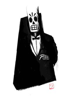 Grim Fandango - Manny Calavera Ten whole years the game has been lost, but now i can finally play it. Gosh, i'm so happy ^^ i played grim fandango with my dad when i was about years old and i still remember few things about it Lucas Arts, Monkey Island, Power Of Social Media, Gamers, Game Concept Art, Geek Games, The Grim, Skull Art, Computer