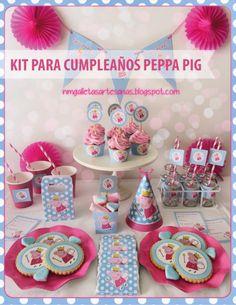 PEPPA-PIG Kit imprimible y mas imprimibles, la página está buenisima!