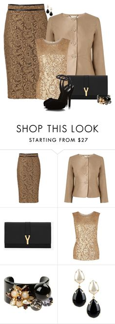 """""""Wedding Guest"""" by sherry7411 ❤ liked on Polyvore featuring Burberry, L.K.Bennett, Yves Saint Laurent, Oasis, Gucci, Miu Miu and Daniela Farah"""