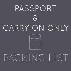 carry-on list