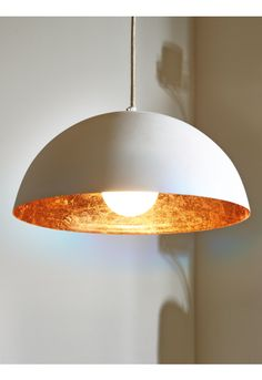 White & Copper Pendant Lightshade NEW - Home