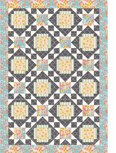 "I'm in love!  ""Designer Pattern"" page on Patternjam.com.  Quilt is the ""my Clementine"" quilt.  Select & audition fabric to your hearts content!"