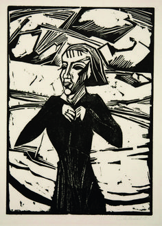 Erich Heckel | Mädchen am Meer (1918) | Available for Sale | Artsy Franz Marc, Woodcut Art, Linocut Prints, Art Prints, Block Prints, Henri Rousseau, Kandinsky, Ludwig Meidner, Renaissance