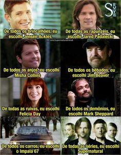 #Supernatural Não é só mais uma série, é a minha vida ❤