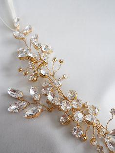 Swarovski crystal hair vine Crystal Headband by SabinaKWdesign, $200.00