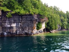 Bluffs on Lake Manitou, Canada Manitoulin Island, Tower Bridge, Beautiful Places, Canada, River, World, Painting, Outdoor, Outdoors