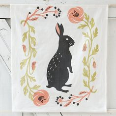 Spring Bunny Tea Towel in House+Home KITCHEN+DINING Prep+Utility Kitchen Linens at Terrain