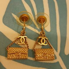 Chanel purse earring Like new authentic Chanel earrings. Ask for details CHANEL Accessories