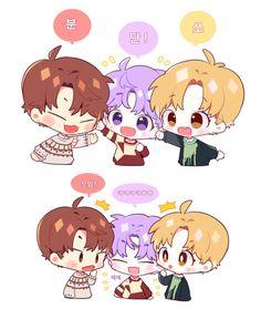 Woojin - Daehwi - Jihoon Lai Guanlin, Lee Daehwi, Ha Sungwoon, First Art, Pretty Wallpapers, Cute Stickers, Funny Cute, Boy Groups, Fan Art