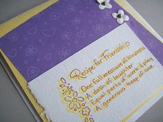 Friendship Card  Thinking of You Card  by SilverCloudDelights, $3.00