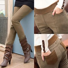 8fa02b192269d Plus Size S-4XL Women Pencil Pants high waist Skinny Black Thick Velvet Warm  Winter Leggings Jeggings Legins Feminina Trousers