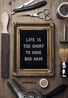 Quotes about Hair, Beauty & Life.- Salon deZEN— Salon deZEN At deZEN we love Hair, Beauty and just Life in general, we try to bring that enthusiasm into everything we touch throughout our day to make our clients feel beautiful and glamor Hairdresser Quotes, Hairstylist Quotes, Salon Quotes, Hair Quotes, Quotes About Hair, Quotes Quotes, Barber Quotes, Barbershop Quotes, Barber Memes