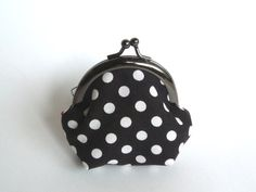 Black and White Polka Dot Coin purse