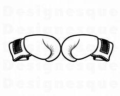 Boxing Gloves, Gender Reveal, Outline, Vectors, Cricut, Clip Art, Note, Printed, Digital