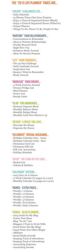 Planner Pages: