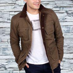 Four Pocket Coat Khaki now featured on Fab.