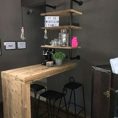 Made by Luigiano Bar, Office Desk, Table, Furniture, Design, Home Decor, Timber Wood, Desk Office, Decoration Home
