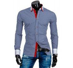 Pánská stylová košile - Castille, Rocher, bílá kostka   TAXIDO fashion